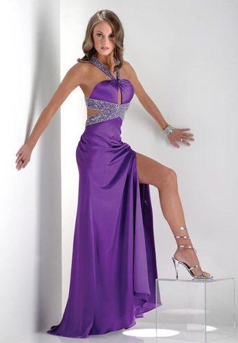 Vestidos largos color malva