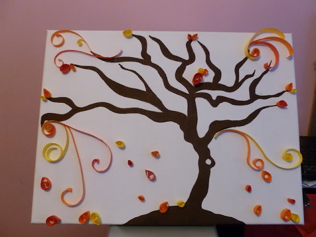 осеннее дерево, украшенное своими руками в технике квиллинг