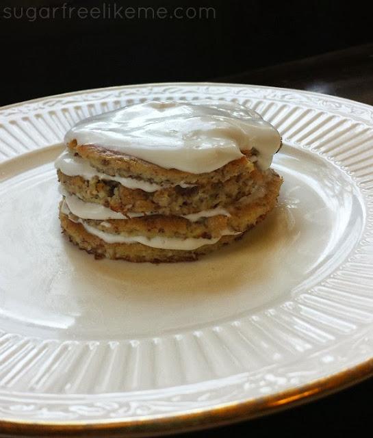 Sugar Free/Low Carb Mini Hazelnut Cakes with Vanilla Hazelnut Cream