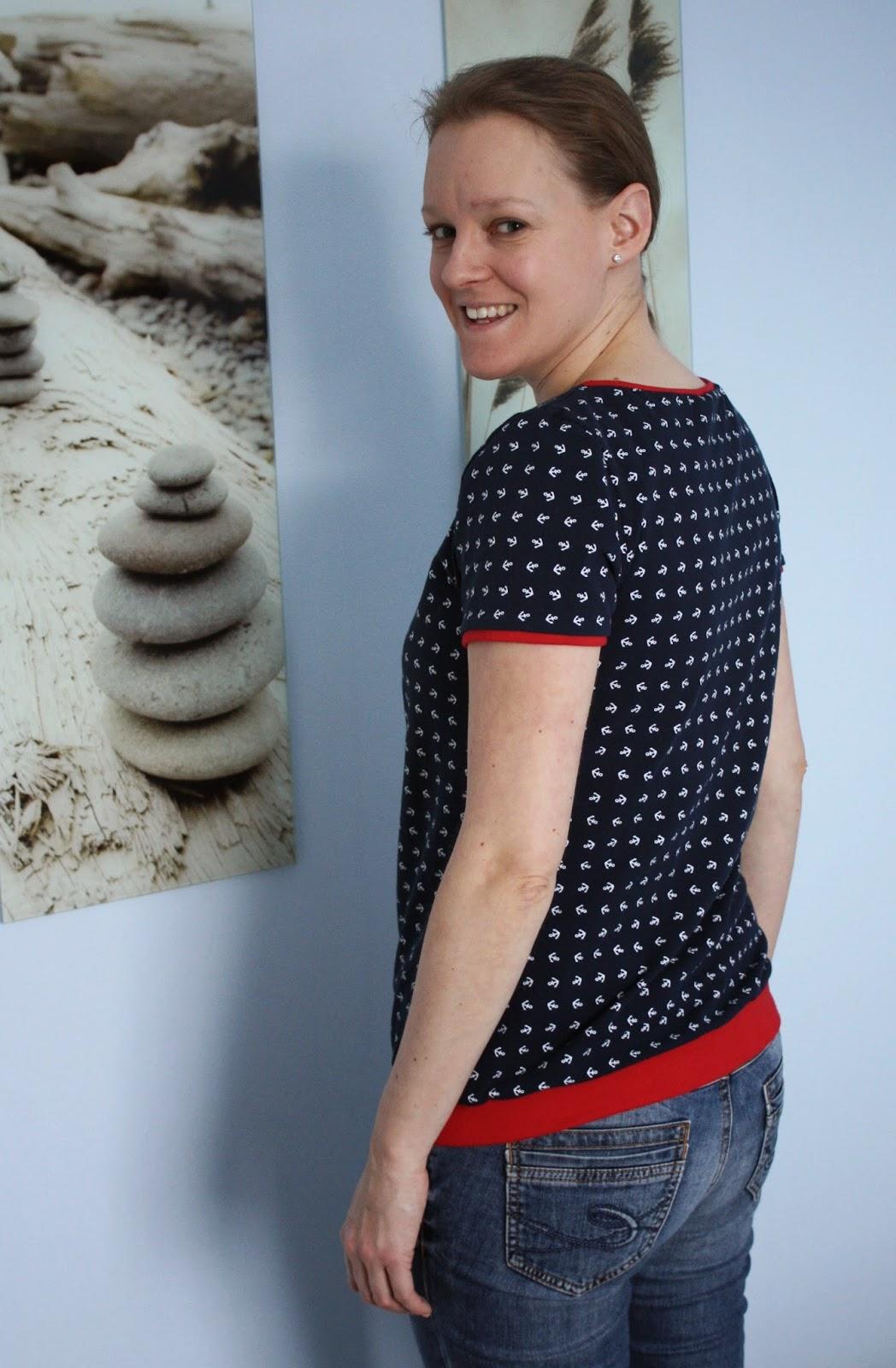 """Maritimes Shirt """"Liv"""" nach pattydoo - Rückenansicht"""