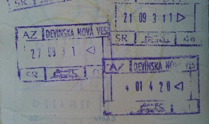 Passport pirouette in and out of slovakia again and again not slovak passport stamps lots of them ccuart Images
