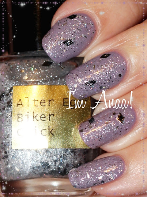 1 coat of Alter Ego Biker Chick over A-England Guinevere