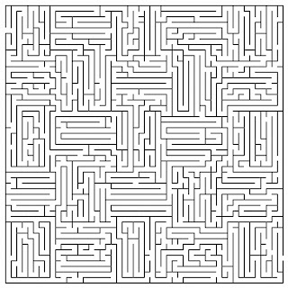Crafty image within printable maze for adults