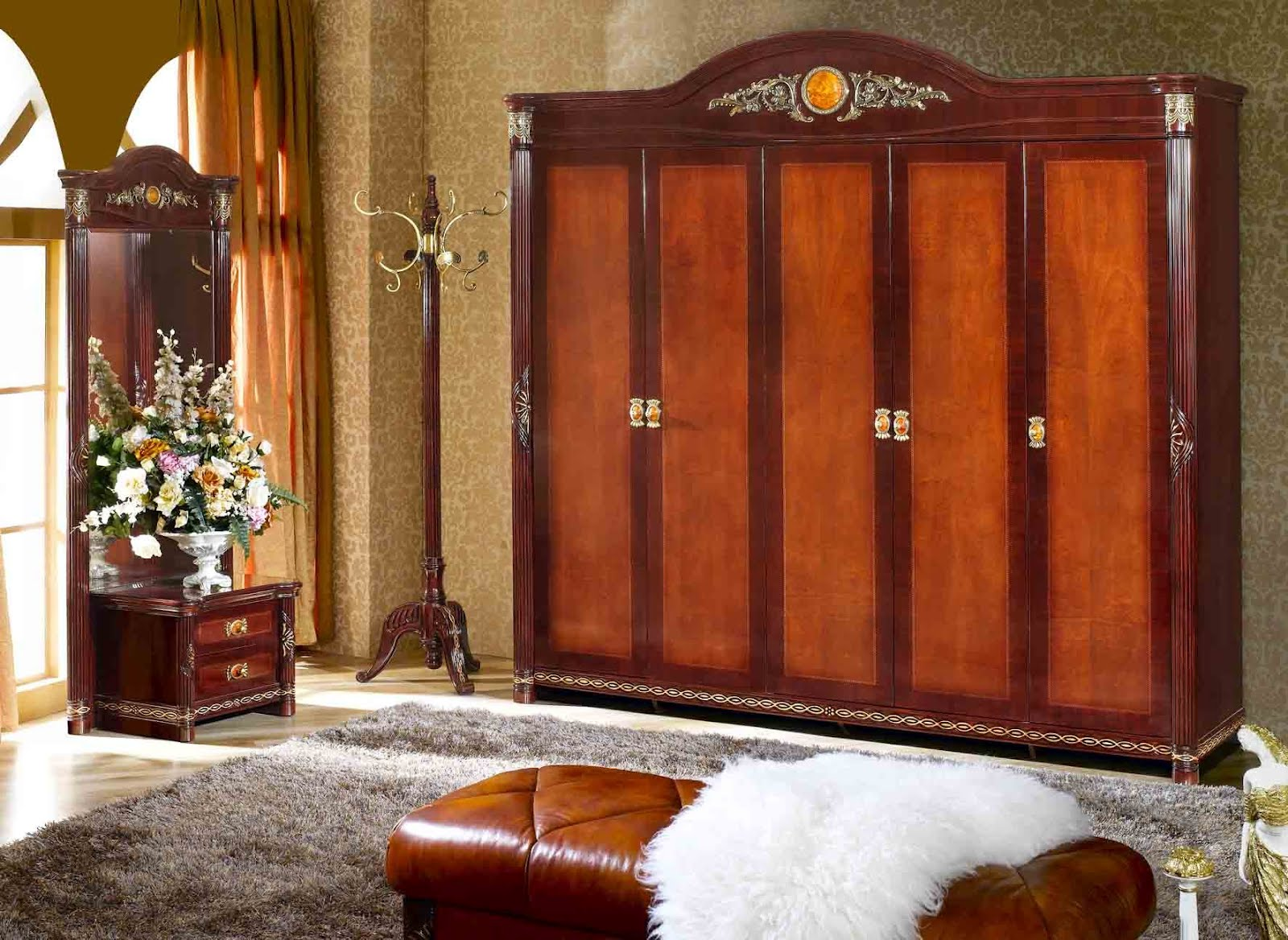 Wood furniture manufacturers wooden wardrobe