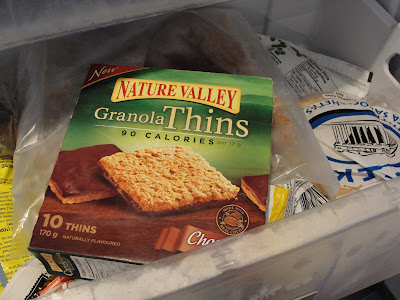 Nature Valley Granola Thins in freezer