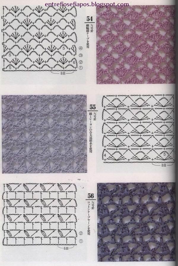 Croché, tricô e outras artes.: Pontos variados de croché
