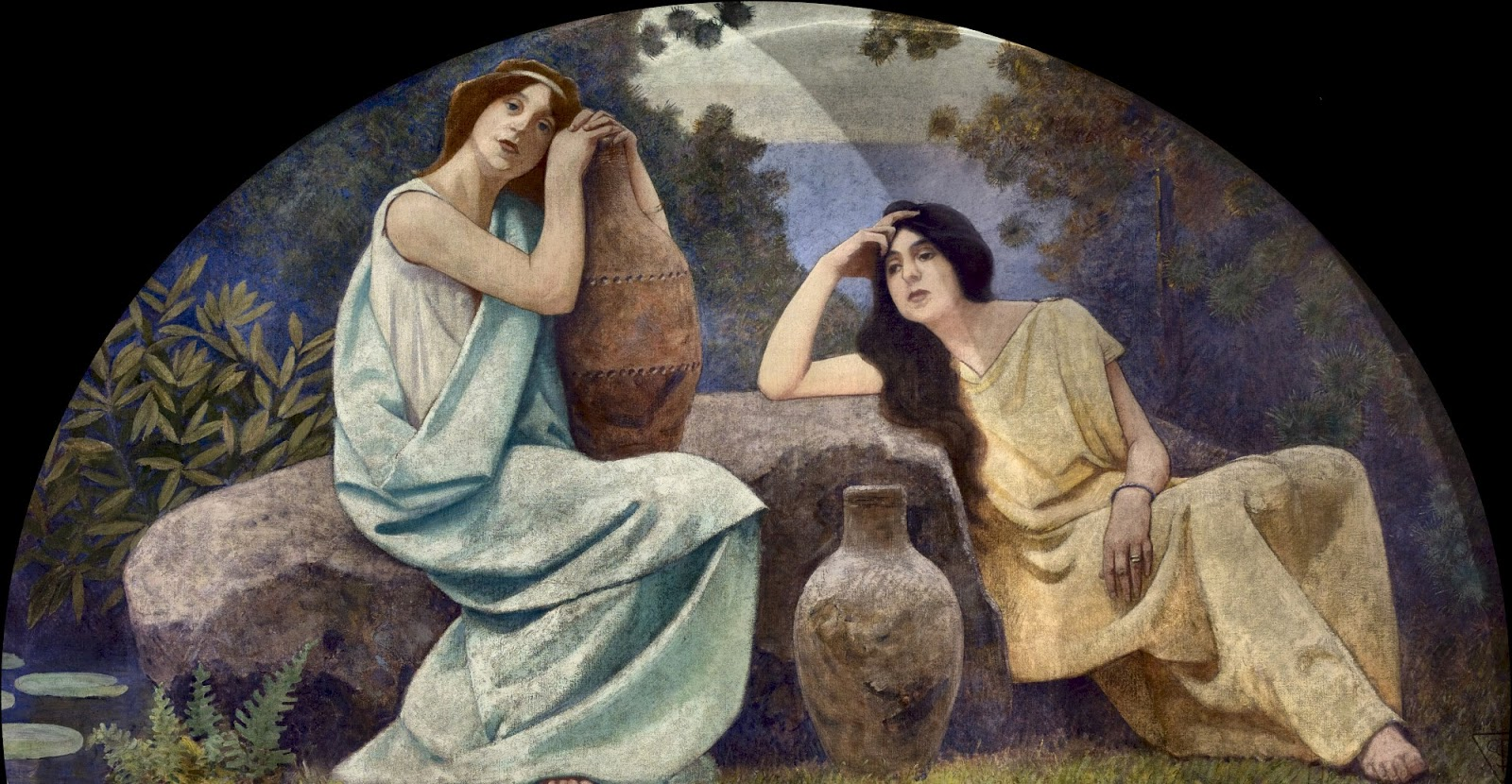 Charles  Sprague  Pearce  mural  library  of  congress  washington  rest