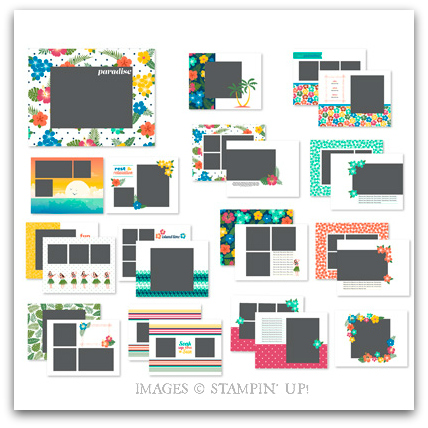 Stampin' Up! Paradise Found Digital Photobook Template