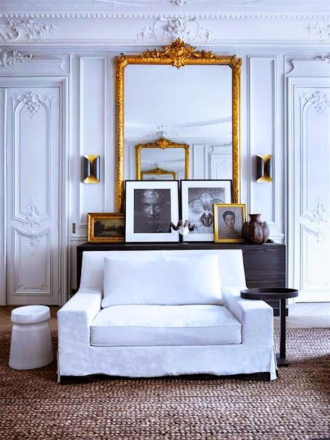 blog deco salon blanc noir et or chic et design
