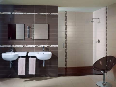 Carrelage salle de bains id es design interieur france for Carrelage salle de bain fonce