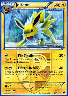 Jolteon Plasma Freeze Pokemon Card