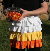 Candy Corn Ruffle Apron
