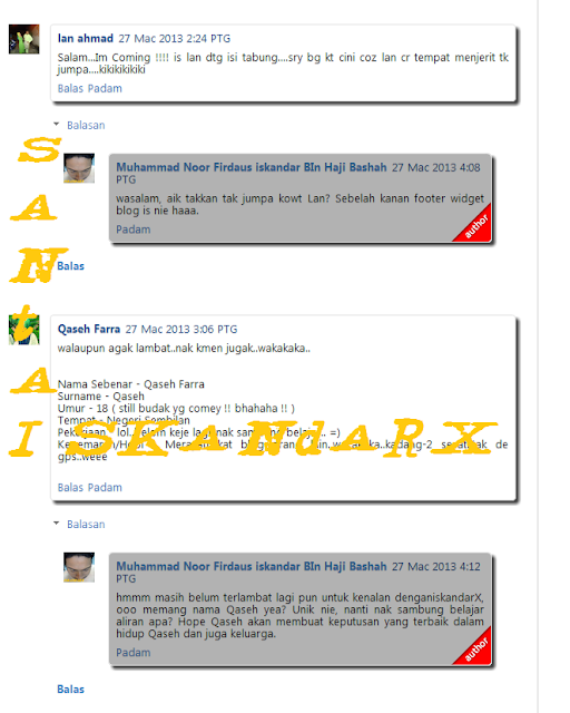 santai, reply, button, js, javascript, comment, threaded, blogging, tips, Santai iskandarX,