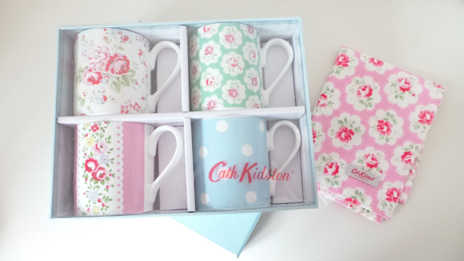 Laura's All Made Up - Home Haul - Cath Kidston haul - Cath Kidston Outlet Buys - Assorted Mug Set - Tea Towel