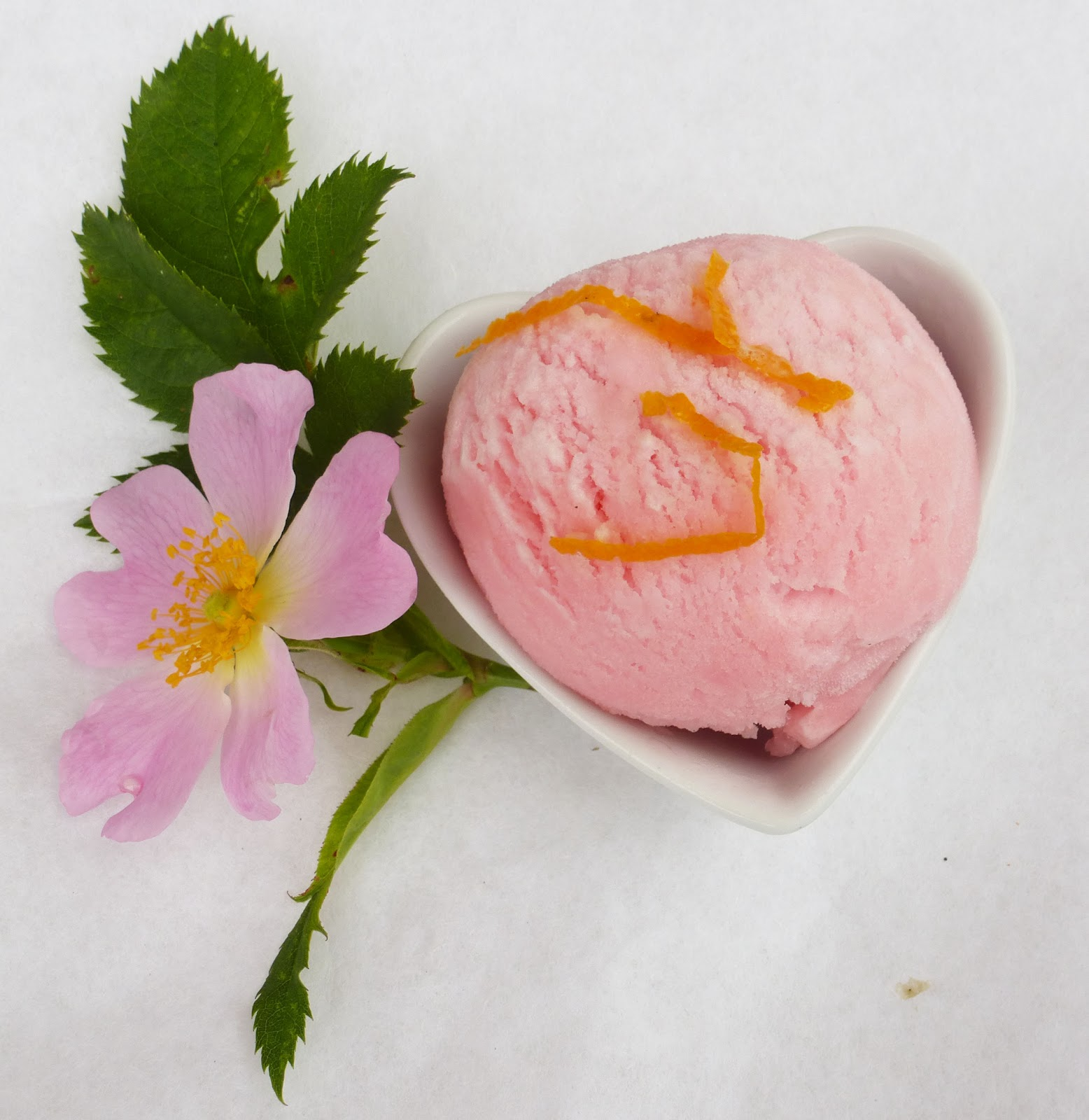 Yoghurt with rhubarb sorbet