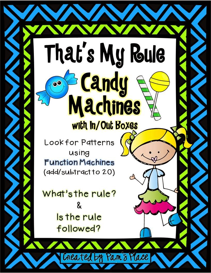 http://www.teacherspayteachers.com/Product/AdditionSubtraction-Function-Machines-Candy-Machines-with-InOut-Boxes-1298134