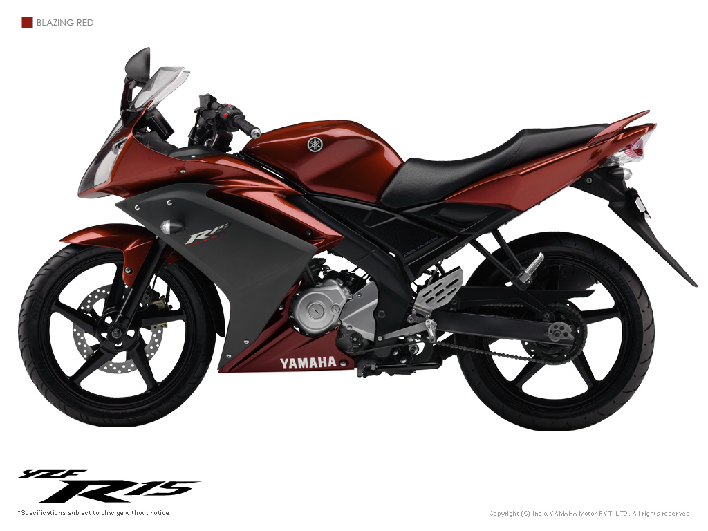 yamaha r15 The yamaha r15 has been on sale in india since 2008 and is underpinned by the same deltabox frame from the v-ixxion and eschewing a design from the larger r1 the facelifted version came in 2011 .