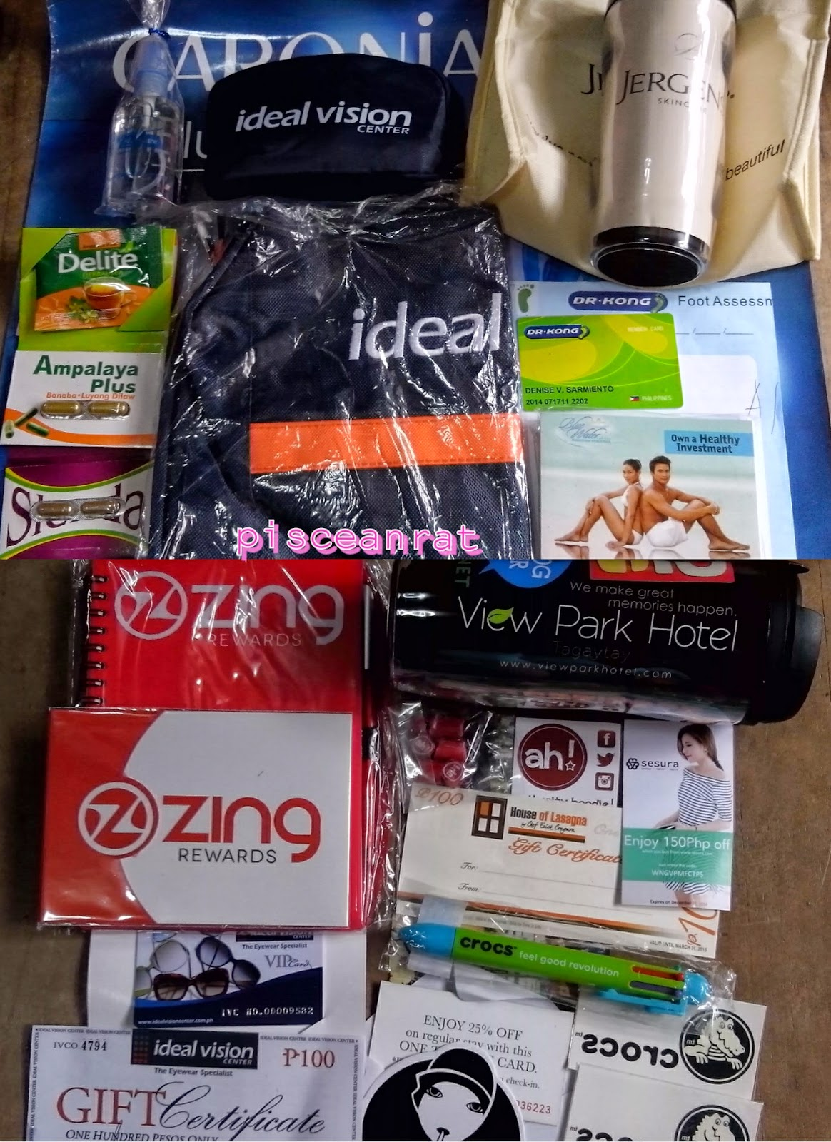 Zing Rewards, Ideal Vision, Jergens, Ampalaya Plus, Delite, Maxicare, Slenda, Dr. Kong footwear, Blue Water Day Spa, View Park Hotel Tagaytay, ah! hoodies, Victoria Court hotel, Crocs footwear,