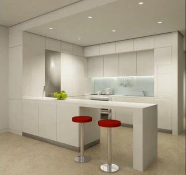 Decoraci n minimalista y contempor nea cocinas minimalistas for Piso cocinas minimalistas
