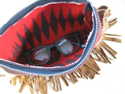 handmade Pendleton Indian blanket zipper pouch