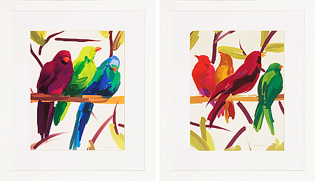 abstract bird prints