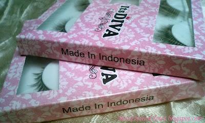 ItsDiva false eyelashes made in indonesia