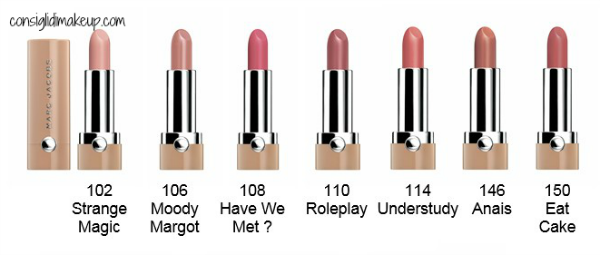 nuovi rossetti marc jacobs new nudes
