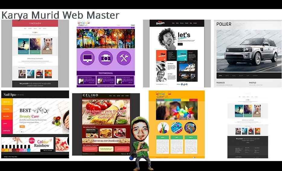 Karya Murid Graphic Web Master di DUMET School