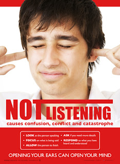 Posters on listening