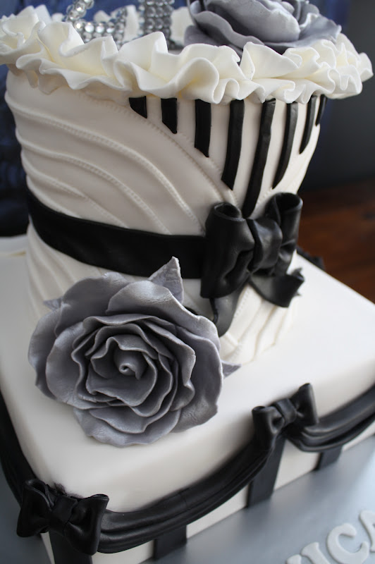 Sandy S Cakes Happy 21st Monica Black Amp White French