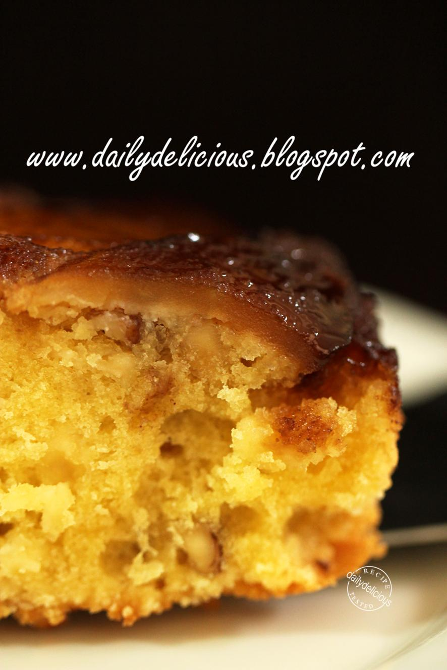 Apple Upside Down Cake Grated