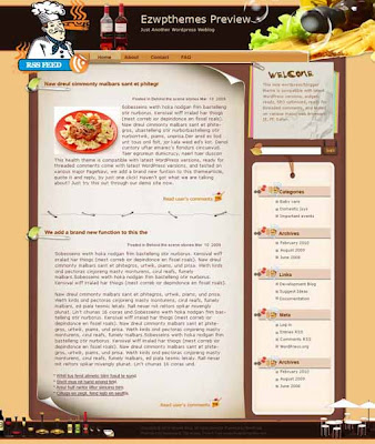 Golden Match blogger template. converted WordPress to Blogger template. cooking and recipes template blog