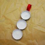 Reciclatex Decoraciones de Navidad muñecos de nieve con chapas