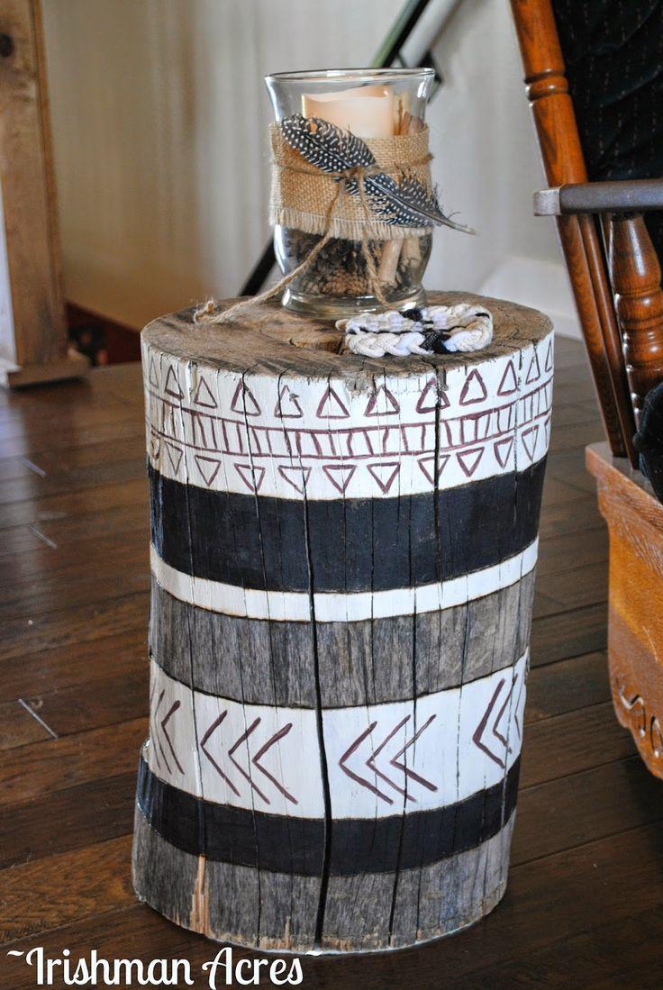 banquinho de madeira  rústica