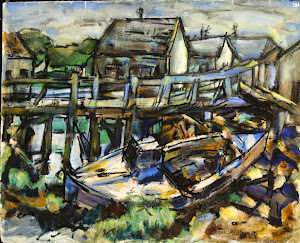 Untitled gouache on paper by Provincetown painter LaForce Bailey, 1893 - 1962