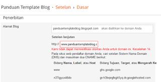 Custom Domain Blogspot IDwebhost