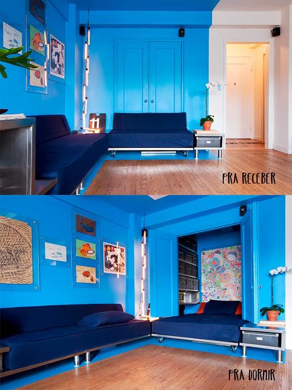 quitinete estilosa - aproveitar espaço - para receber - para dormir - casa pequena