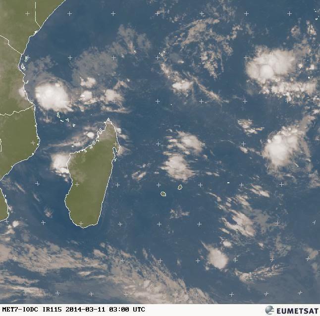 Image satellite météo réunion 11 mars 2014