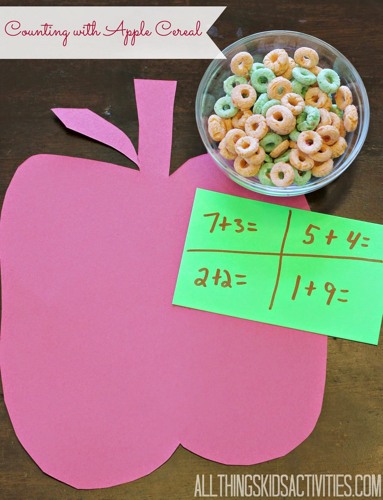 Counting with Apple Cereal