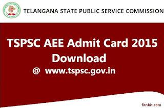 TSPSC AEE Civil Admit Card