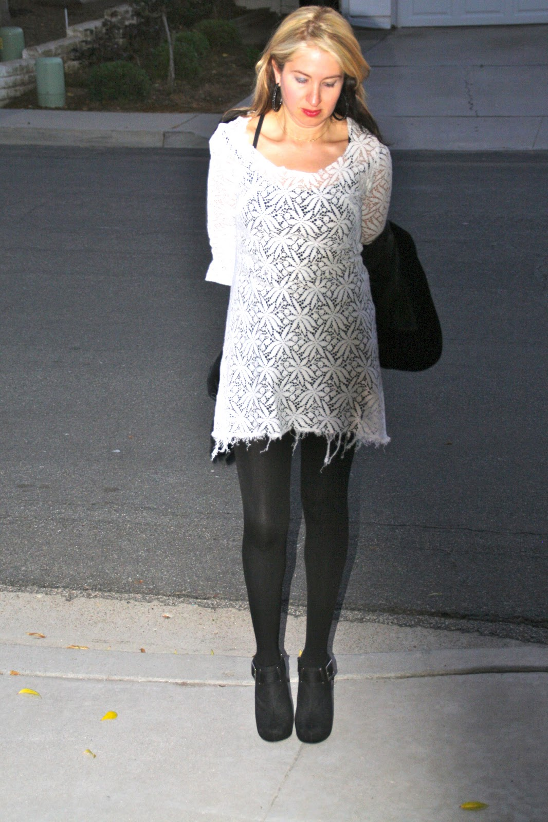 Find and save ideas about Dress with tights on Pinterest. | See more ideas about Outfits with tights, Neutral tights and Autumn style. Women's fashion. Dress with tights; Dress with tights Leggings, Knee High Socks, Lace Up Boots, Floral Dress, Olive Green Cardigan and Scarf. I want the lace .