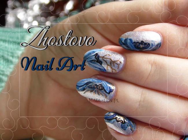 Kwieciste zdobienie, Zhostovo, Nail Art