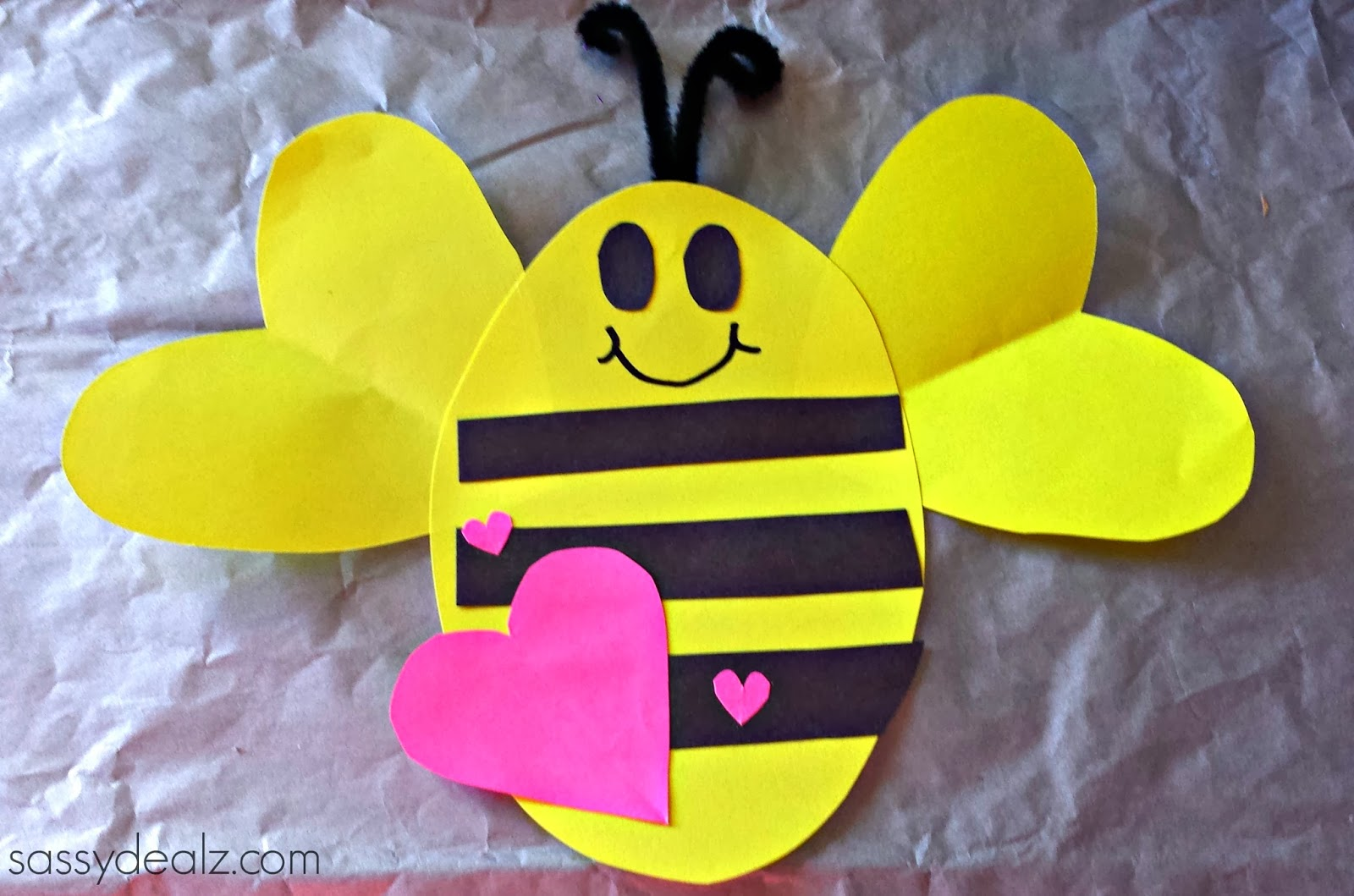 Craft bumble bee - Bee Mine Valentines Day Craft