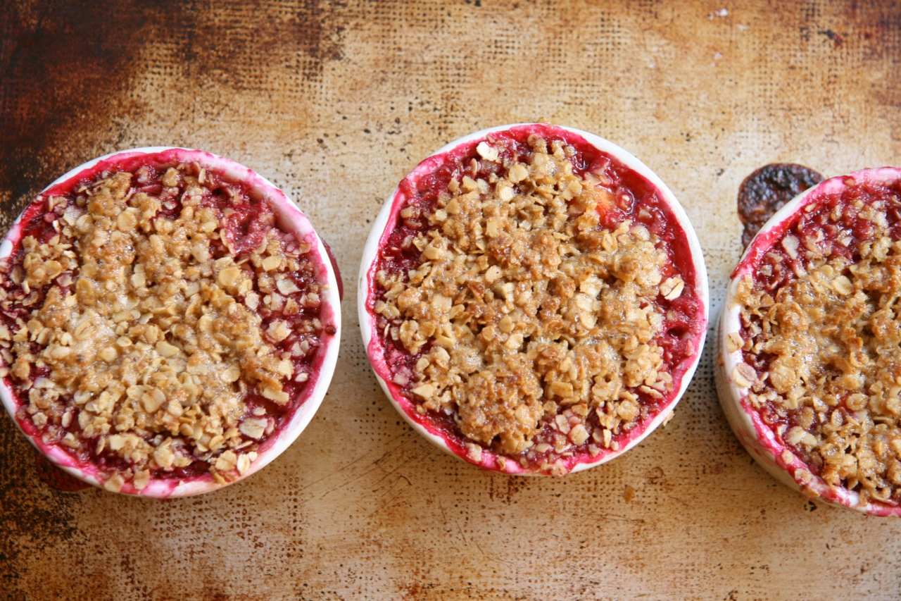 Peach Raspberry Crisp! | Feast of Joy