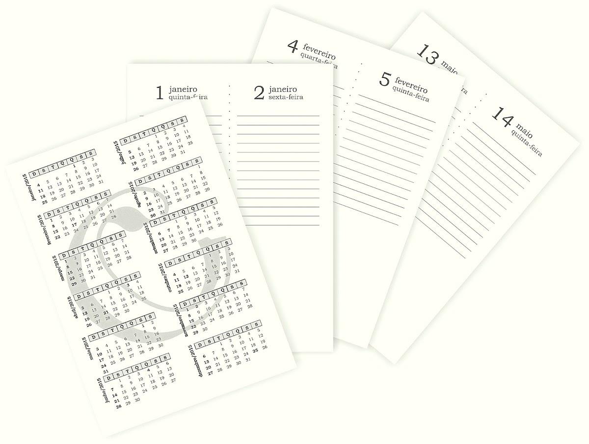 2015 Agenda Para Imprimir