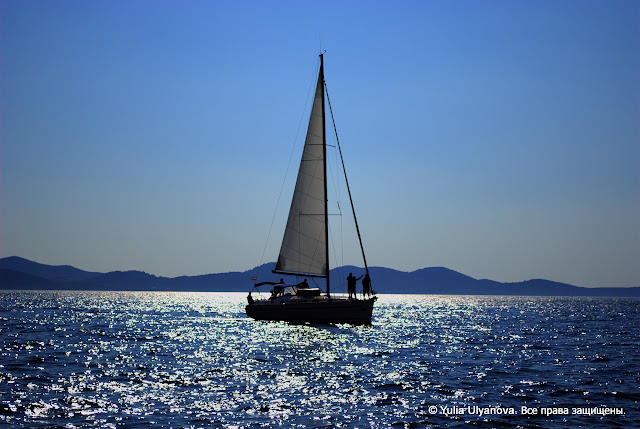 Задар. Хорватия Вид на море