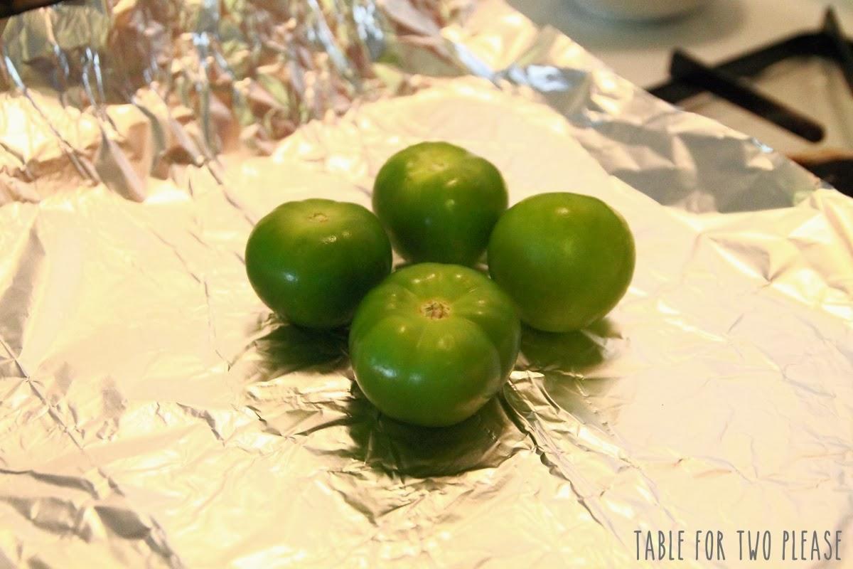 Tomatillos on pan