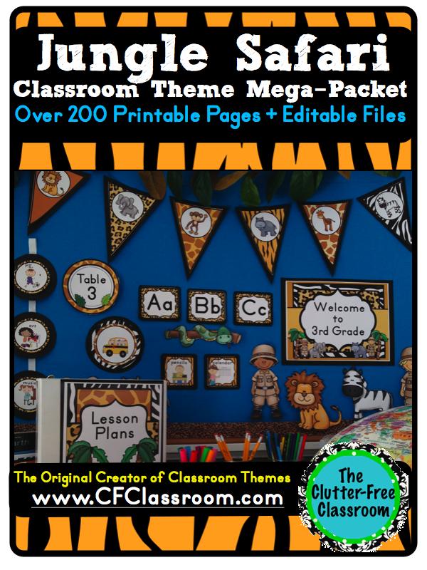 Clutter Free Classroom Jungle Safari Themed Classrooms