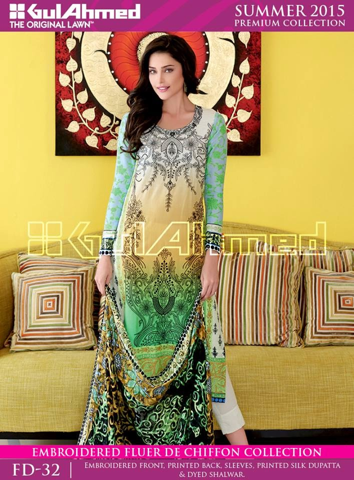 Latest gul ahmed embroidered collection