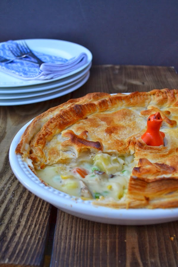 Cheesey Vegetable Puff Pie  Serve with extra vegetables. You can never have too many vegetables.